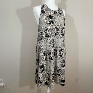 Just BE Sz sm flaired style dress multi print